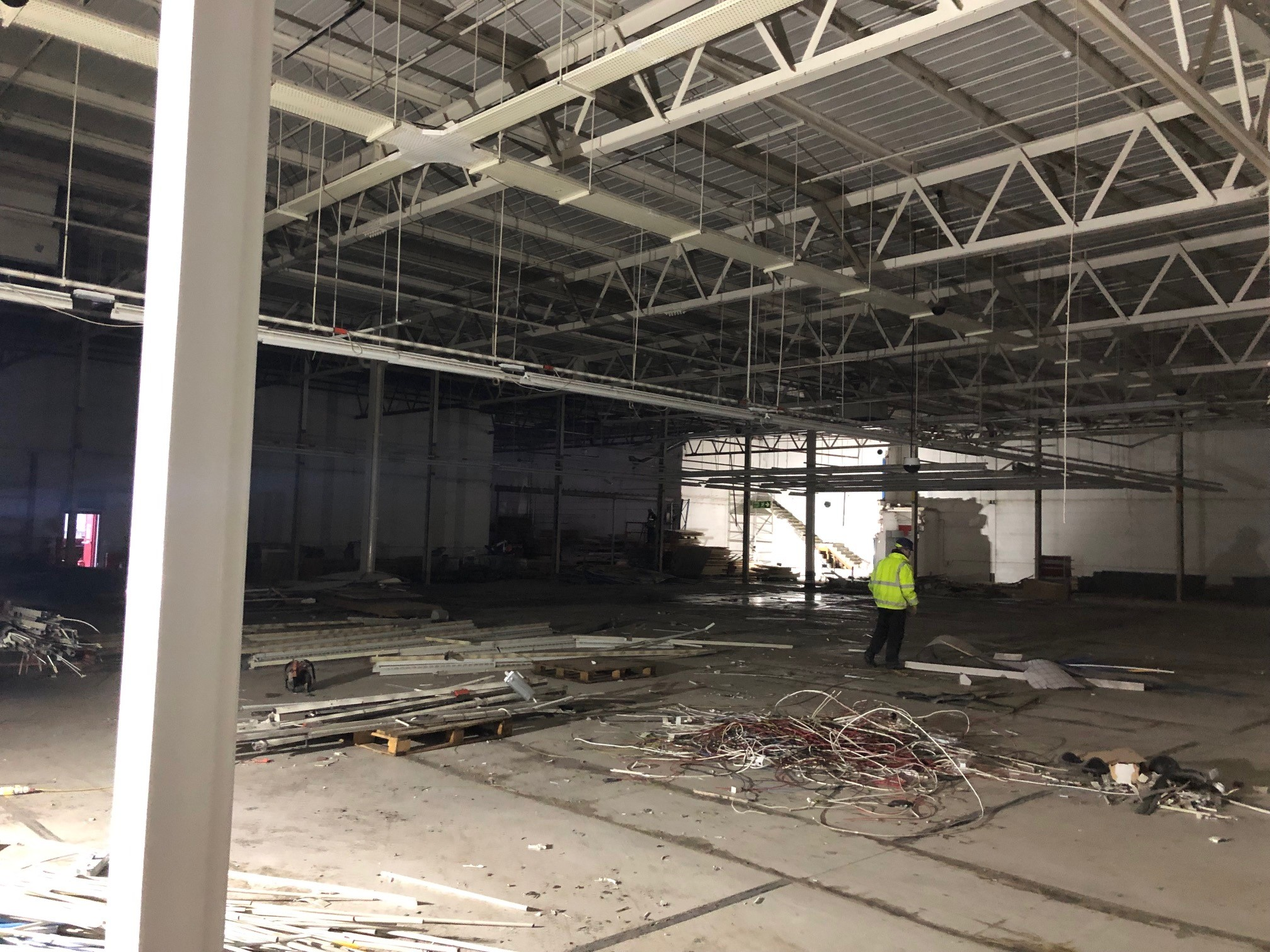 renovation of range store stockport internal