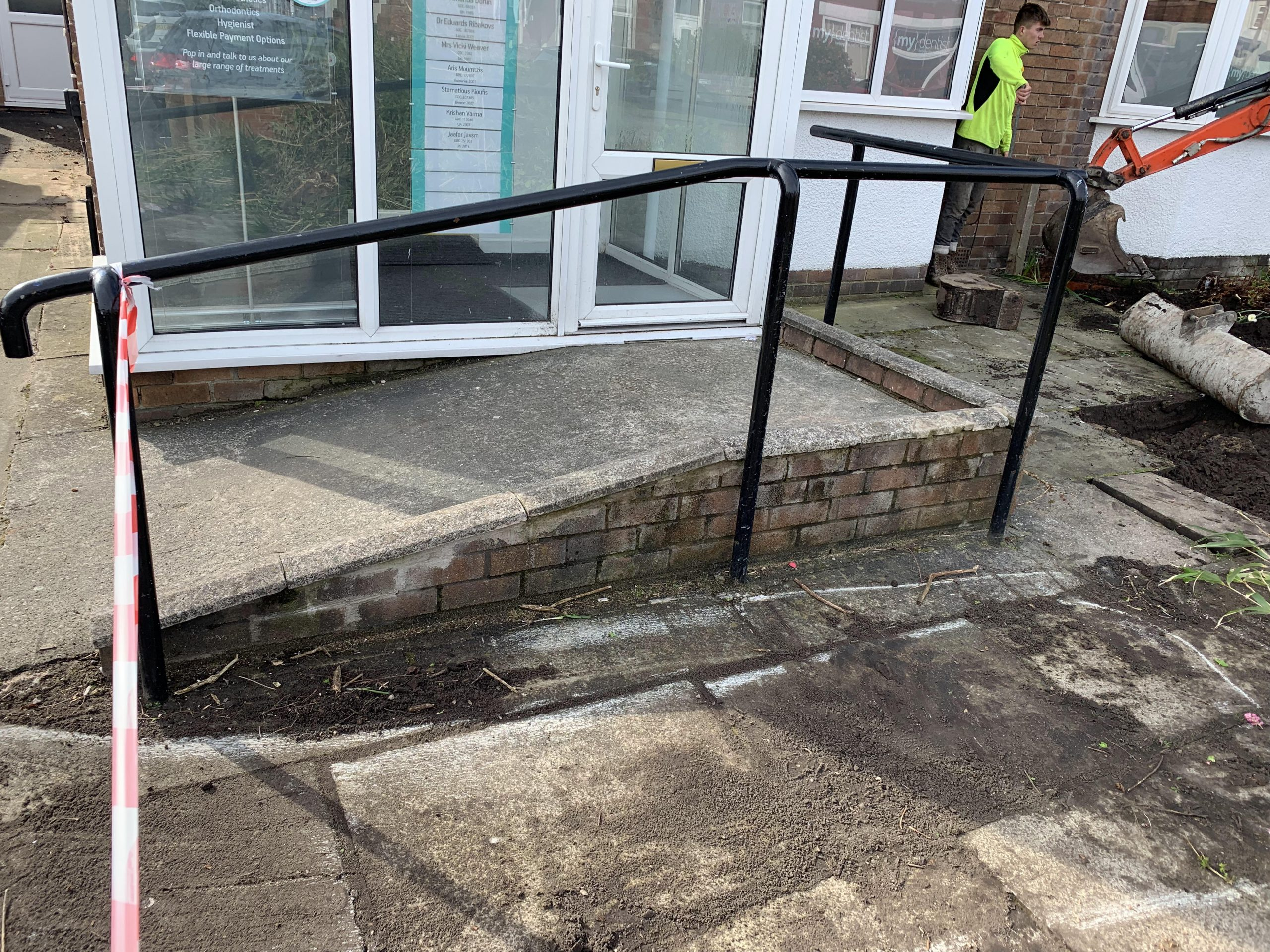 old entrance ramp my dentist formby