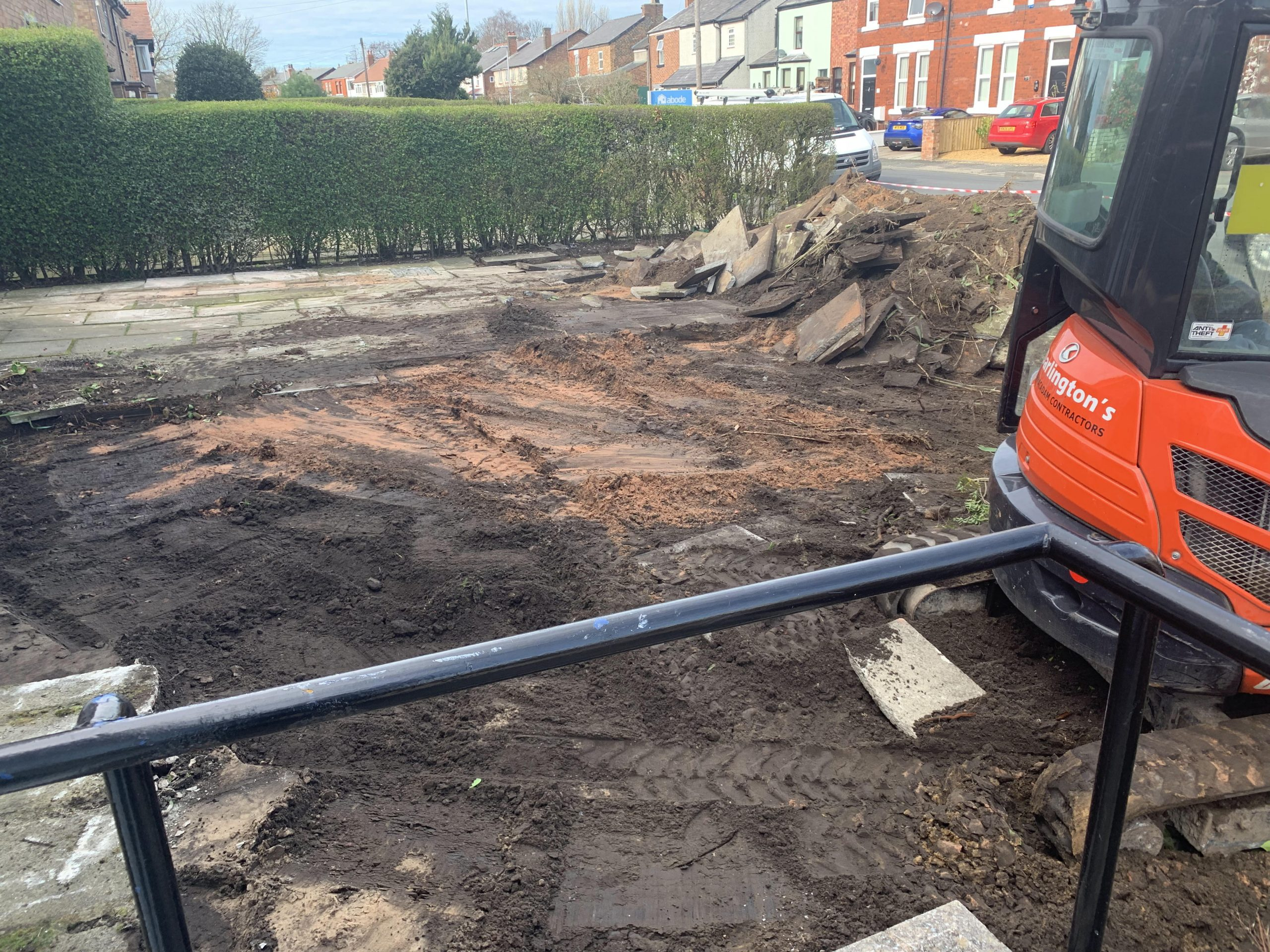 excavation of car park my dentist formby