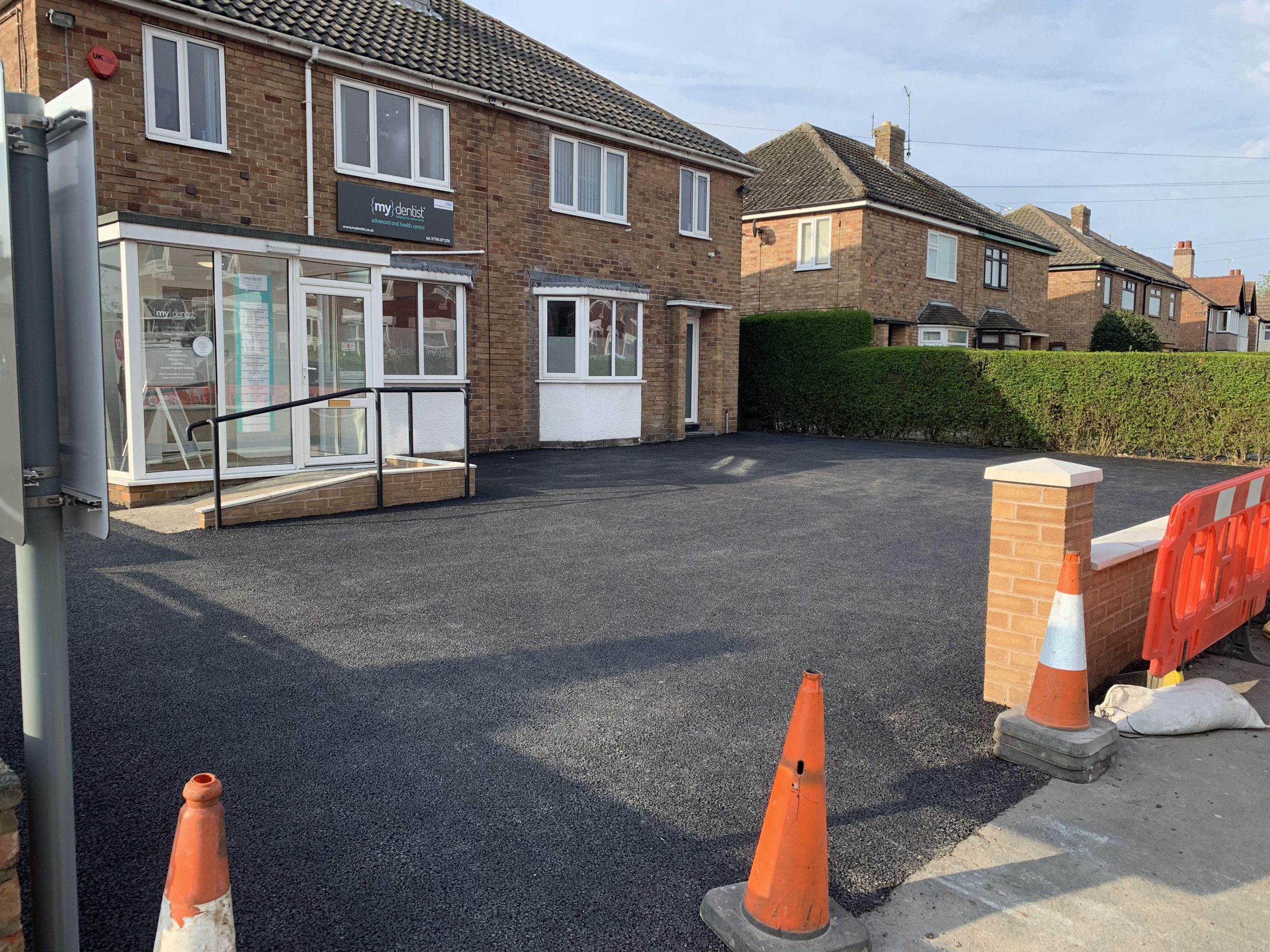 completed car park entrance my dentist formby