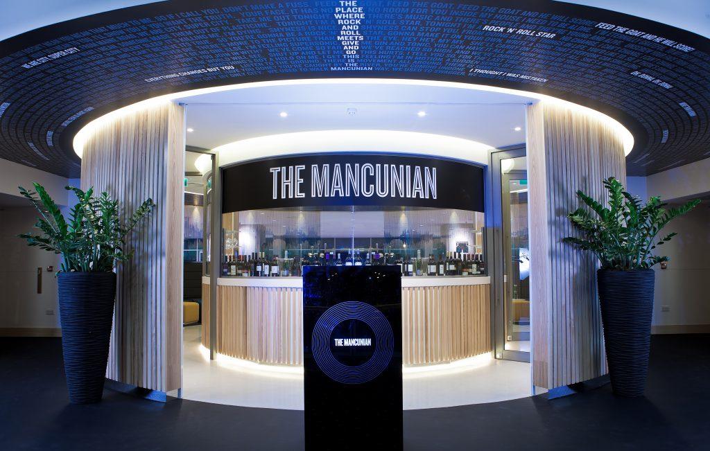 Man City hospitality lounge The Mancunian