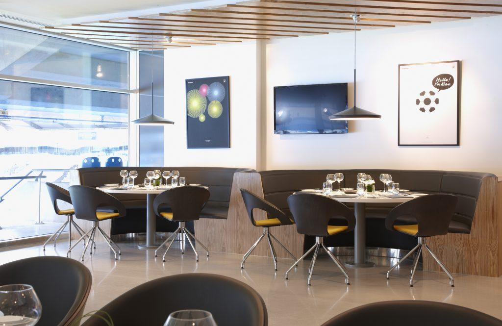 man city hospitality lounges interior mancunian