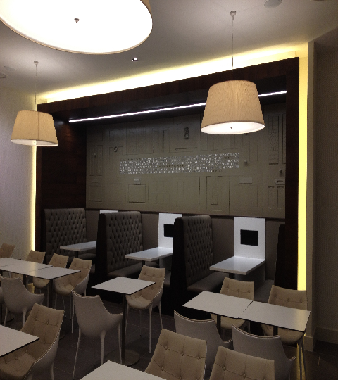 MCFC club lounge areas fit out bar refurbishment