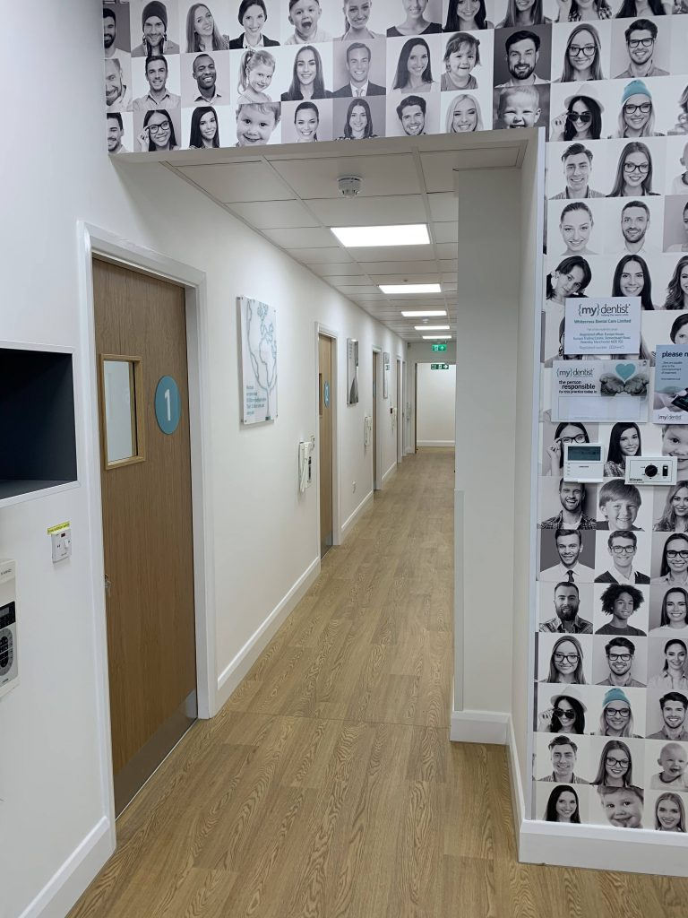 new corridor and feature wall my dentist halifax