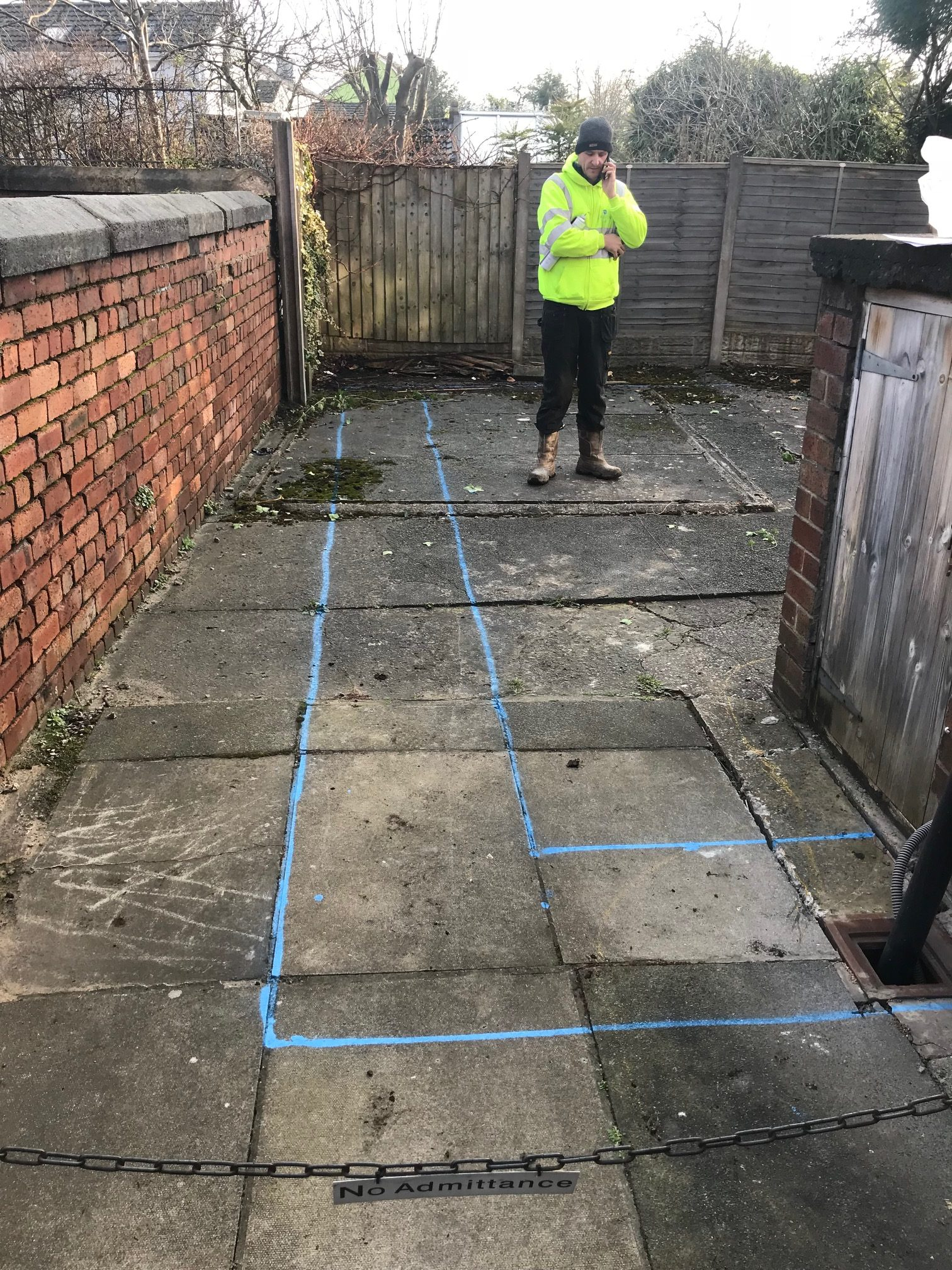 marking out for new extension my dentist formby